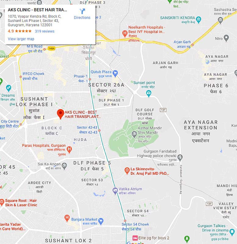 ask clinic address map image